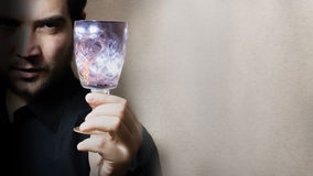 Man holding wine glass Royalty Free Stock Photos