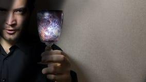 Man holding wine glass Stock Photo