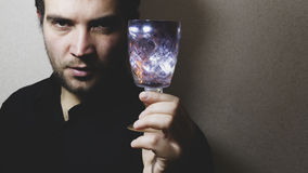 Man holding wine glass Stock Photography
