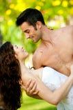 Man Holding Woman Stock Image