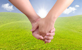 Man holding woman hand Stock Image