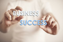 Man holding the words: Business Success Royalty Free Stock Photos