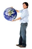 Man holding the world Royalty Free Stock Photos