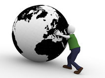 Man holding the world Royalty Free Stock Photo