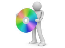Man holds compact disc Royalty Free Stock Photo
