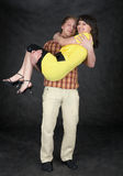 Man holds the girlfriend on hands Stock Photos