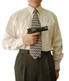 The man holds handgun Royalty Free Stock Photos