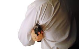 The man holds handgun Stock Photo
