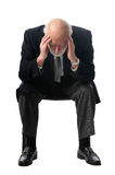 A man holds his head Royalty Free Stock Photography