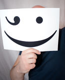 Man holds a smile Stock Image