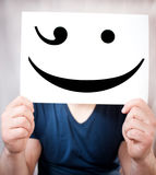 Man holds a smile Stock Images
