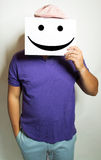 Man holds a smile Stock Photos