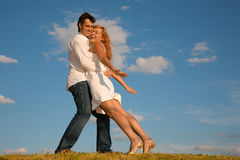 Man Holds The Woman Royalty Free Stock Images