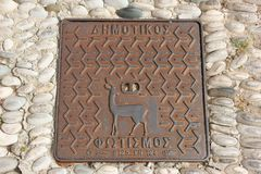 Man Hole Cover Stock Photography