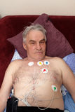 Man with a holter monitor Stock Image