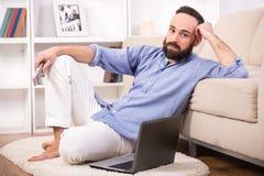 Man at home. Royalty Free Stock Image