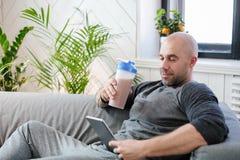 Man at home Stock Photo