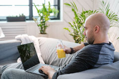 Man at home Royalty Free Stock Images