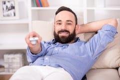 Man at home. Royalty Free Stock Photo