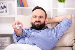 Man at home. Royalty Free Stock Photos