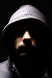 Man in a hood Royalty Free Stock Photography