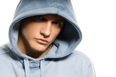 Man in a hood Stock Photo