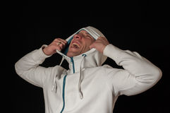 Man in hood Stock Photography