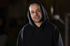 Man In A Hood Stock Image