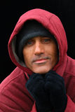 Man in Hooded Sweatshirt Royalty Free Stock Photo