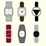 Man horloges, vrouwenhorloges Royalty-vrije Stock Foto's