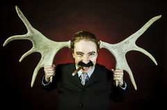 Man with horns Stock Photo