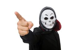 Man in horror costume with mask isolated on the Royalty Free Stock Photo
