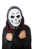 Man in horror costume with mask isolated on the Stock Photos