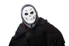 Man in horror costume with mask isolated on the Royalty Free Stock Image