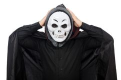 Man in horror costume with mask isolated on the Royalty Free Stock Images