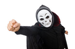 Man in horror costume with mask Royalty Free Stock Photo