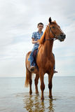 Man on horse Royalty Free Stock Images