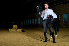 Man with the horse Royalty Free Stock Photography
