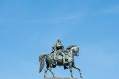 Man on horse, horseman statue  . frederick wilhelm. / Friedrich Wilhelm IV Stock Images