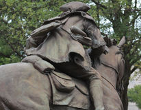 Man on Horse- Statue Royalty Free Stock Photography