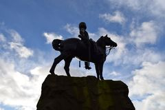 Man on horse statue royalty free stock photography