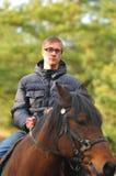 Man on horseback Royalty Free Stock Images