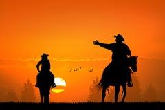 Man on horseback Stock Photo
