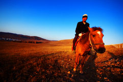 The man on horseback Stock Photo