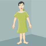 Man Hospital Gown Stock Image