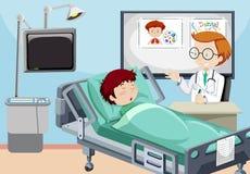 A Man is in Hospital. Illustration vector illustration