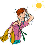 Man in Hot Weather - Vector Stock Photo