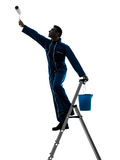 Man house painter worker silhouette Stock Photo
