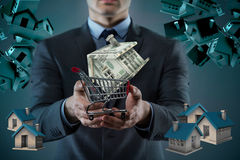 The man in house purchase mortgage concept Royalty Free Stock Images
