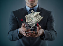 The man in house purchase mortgage concept Stock Photo
